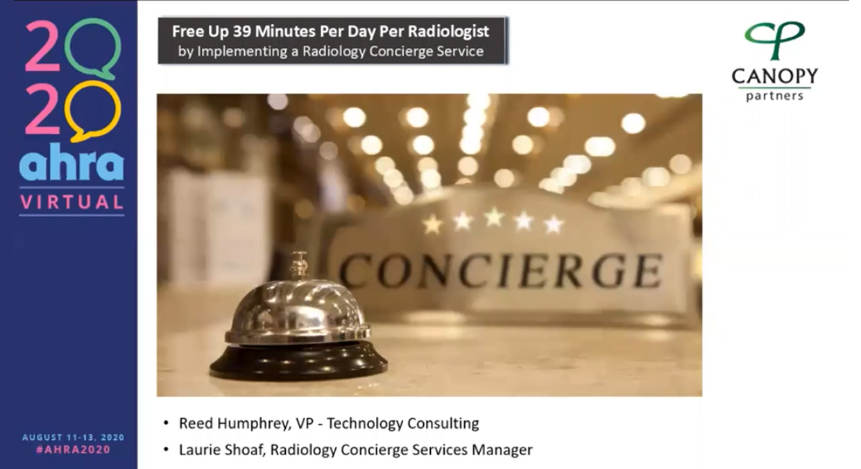 Free Up 39 Minutes Per Day Per Radiologist By Implementing A Radiology Concierge Service